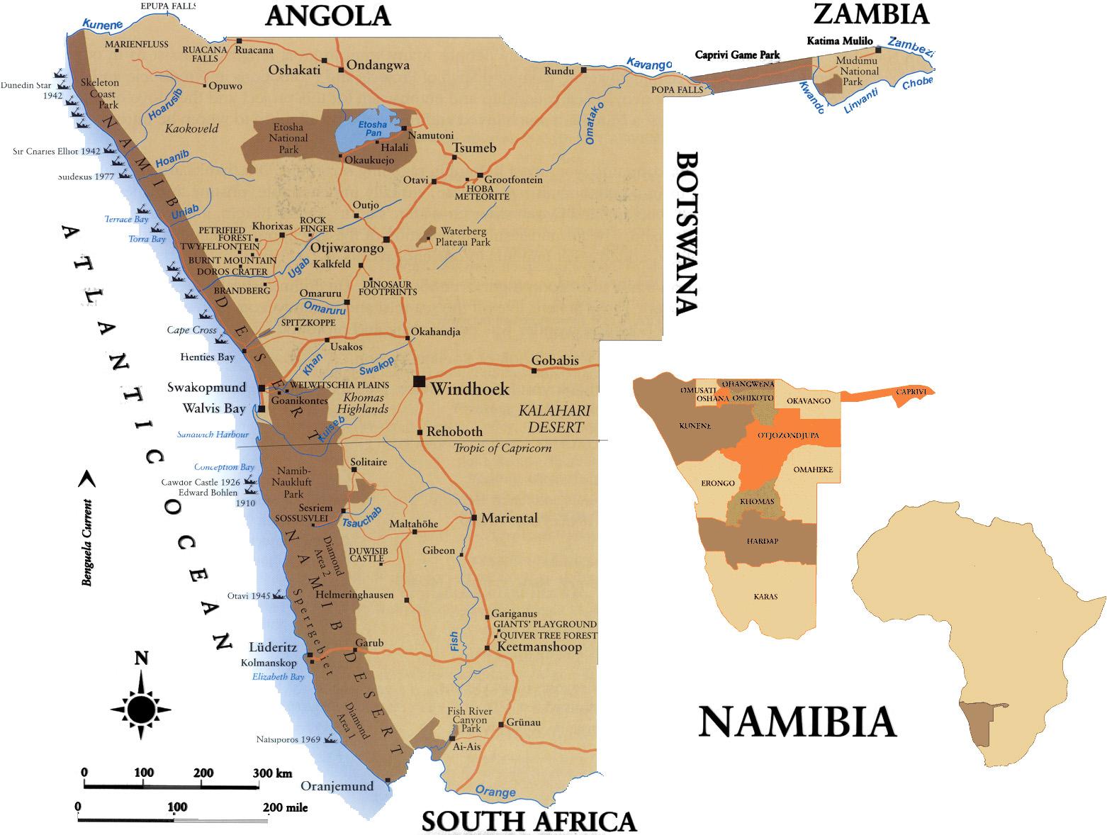 Namib Wüste Karte.Namibia Reise Blog 14 April Bis 4 Mai 2016
